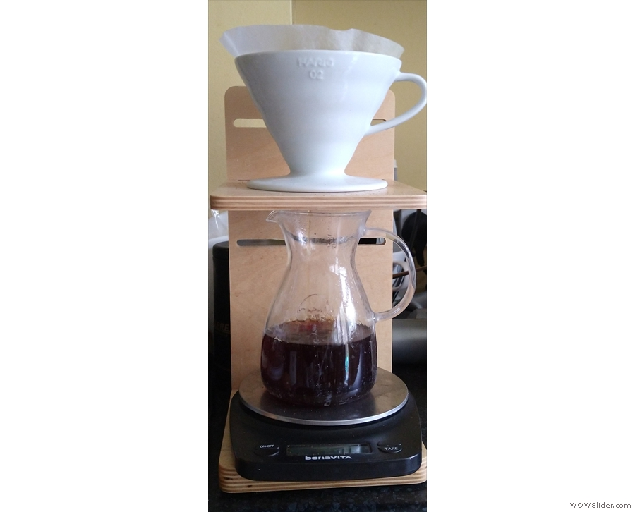 First, I tried my favoured pour-over method, the V60.