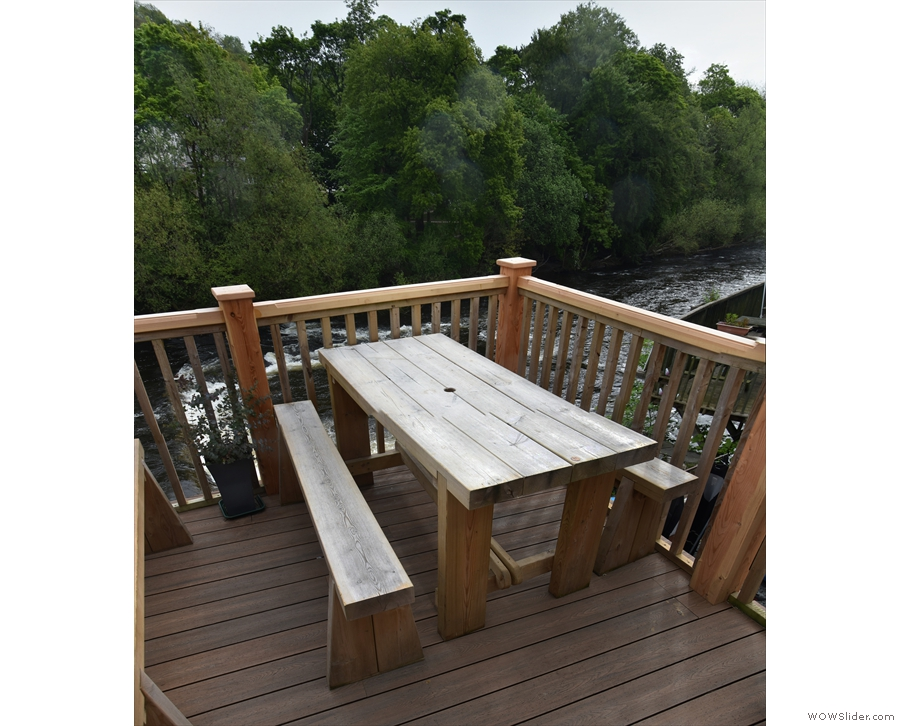 Meanwhile, this was my table, at the other end of the decking...