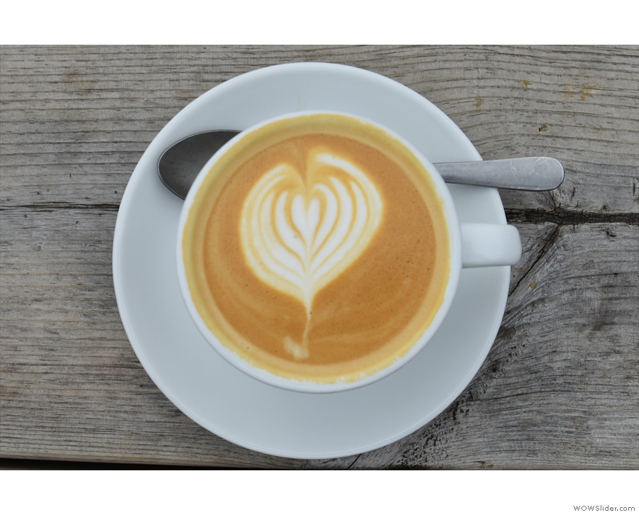 ... and featuring some neat latte art...