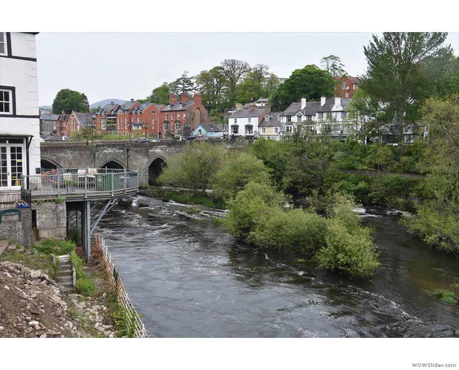 ... the best views upstream to Llangollen Bridge.