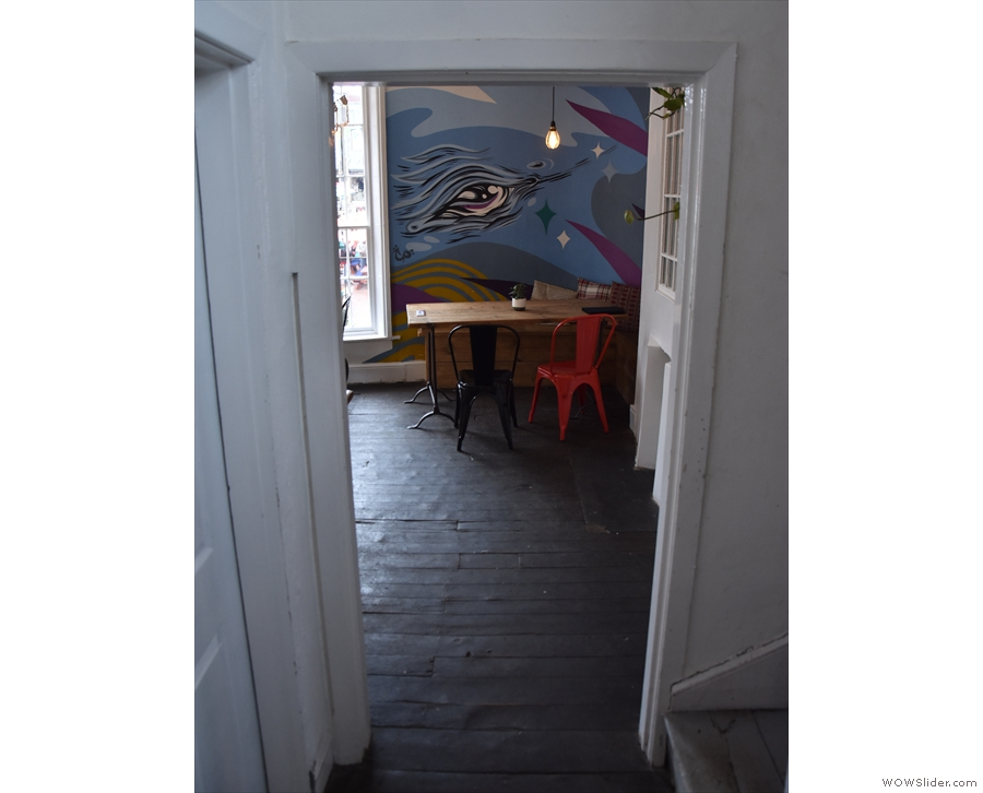 ... you find yourself looking into the cosy upstairs lounge (this is from May 2021).