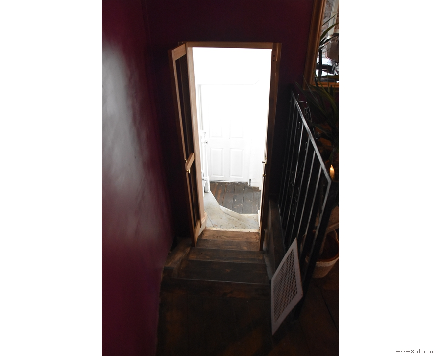 ... first down the new stairs and onto the landing...
