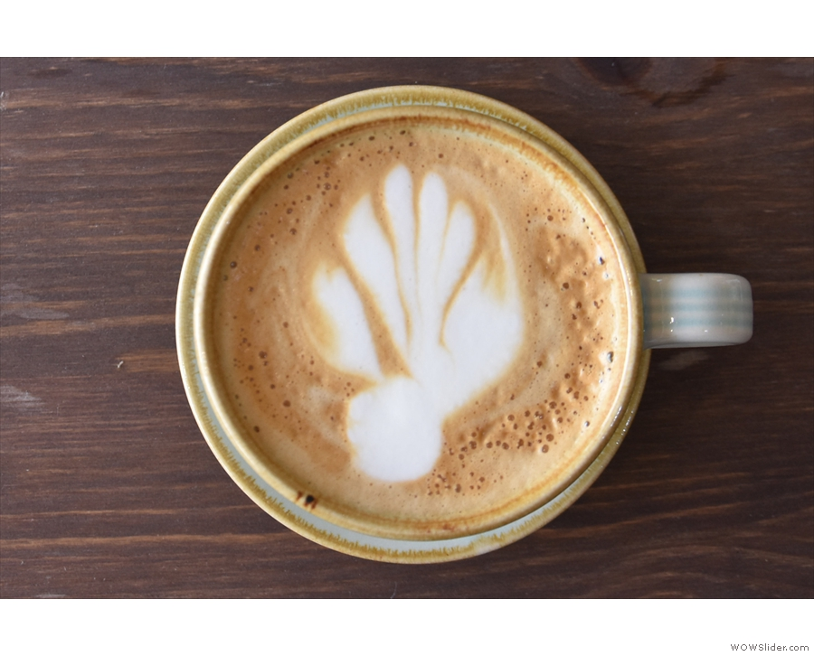 ... with some neat latte art...