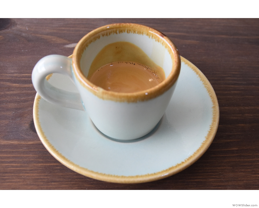 I'll leave you with an espresso, served in another of the gorgeous Surrey Ceramic cups.