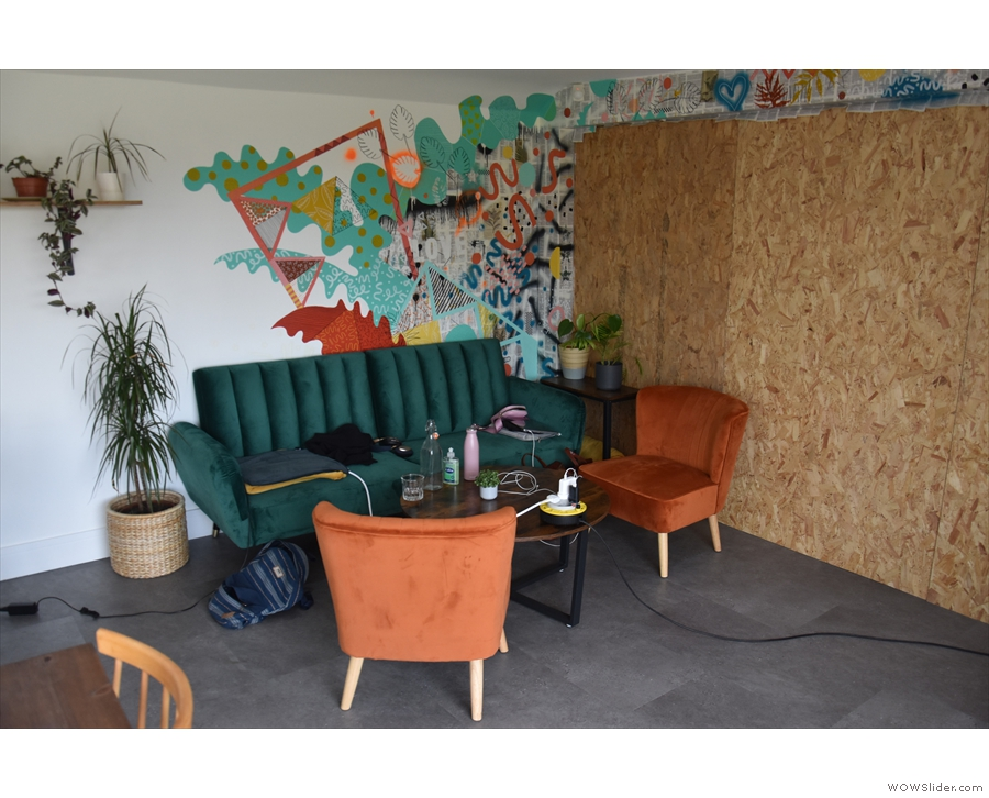 The chipboard is temporary while The Hideaway raises funds for some partition doors.