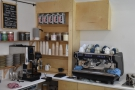 The coffee part of the operation is in the opposite corner, with a Mythos One grinder...