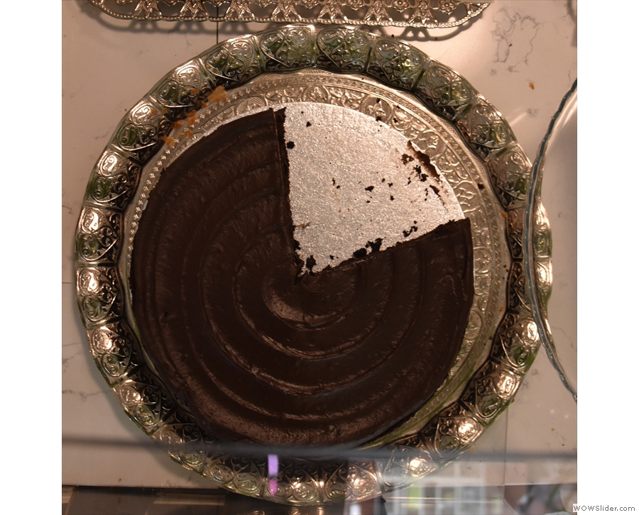 ... and some interesting cakes, like this gluten free chocolate cake...