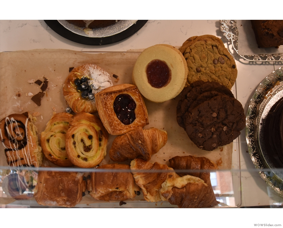 ... where you'll find the usual array of pastries...