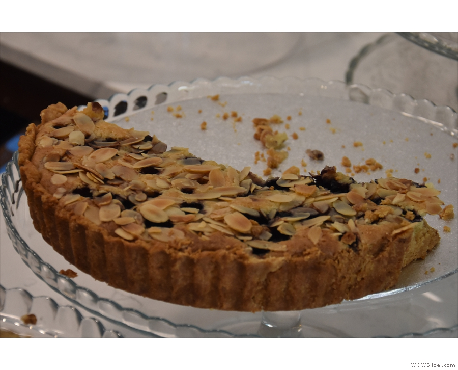 My eye was drawn to this almond and berry tart...