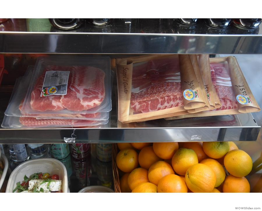 ... stocking a range of chilled meats (and oranges).
