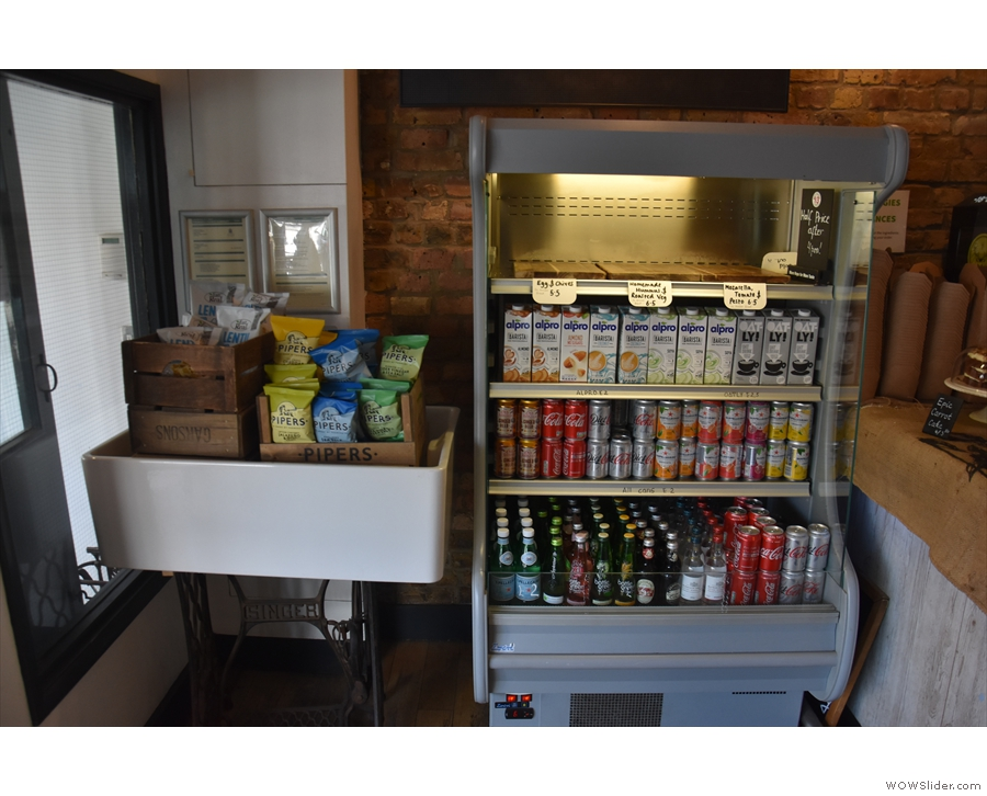While you wait, you can check out the chiller cabinet by the counter.