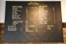 The coffee and tea menus are also here, on the wall above.