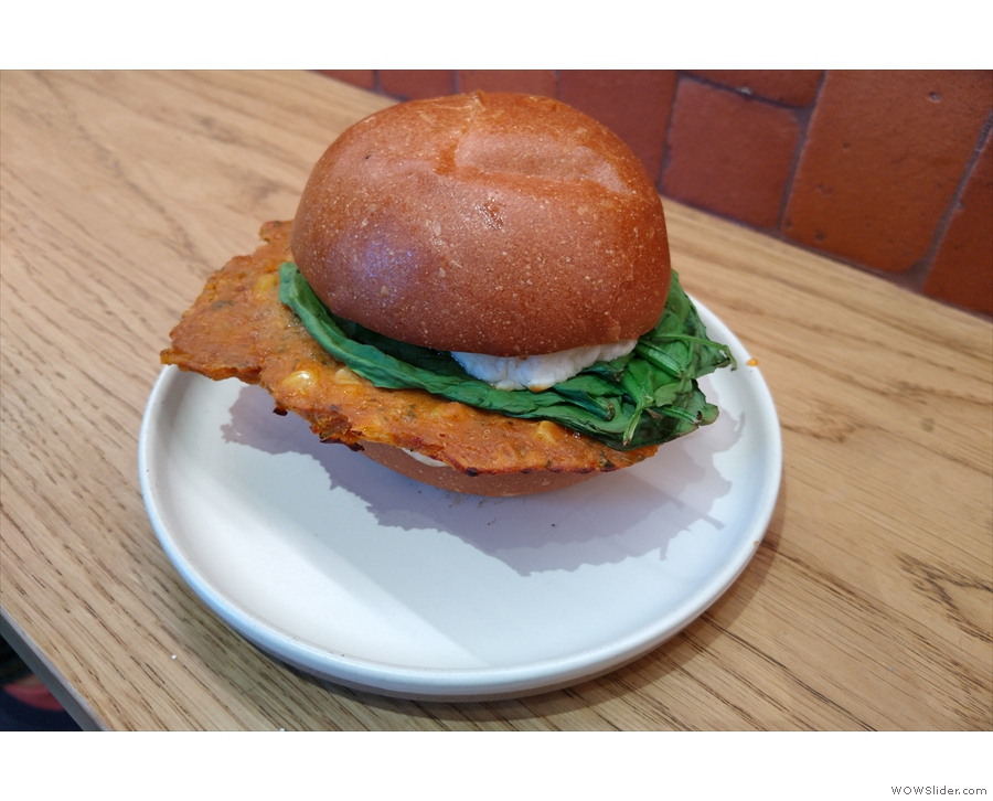 Talking of which, I had the sweetcorn and Mexicana cheese fritter bun for lunch.
