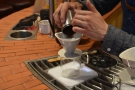 ... is to rinse the filter paper, then add the freshly-ground coffee. Since the drippers are...
