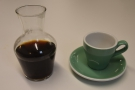 ... roasted by Square Mile, served in a carafe with the cup of the side.