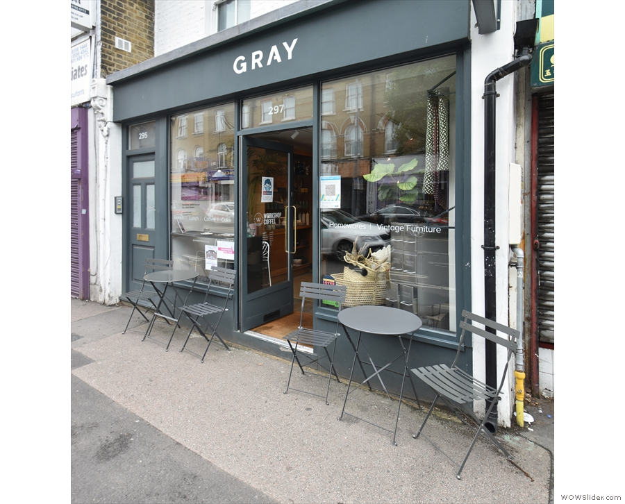 Gray, as seen while heading south on Leytonstone High Road. I'd actually walked past...