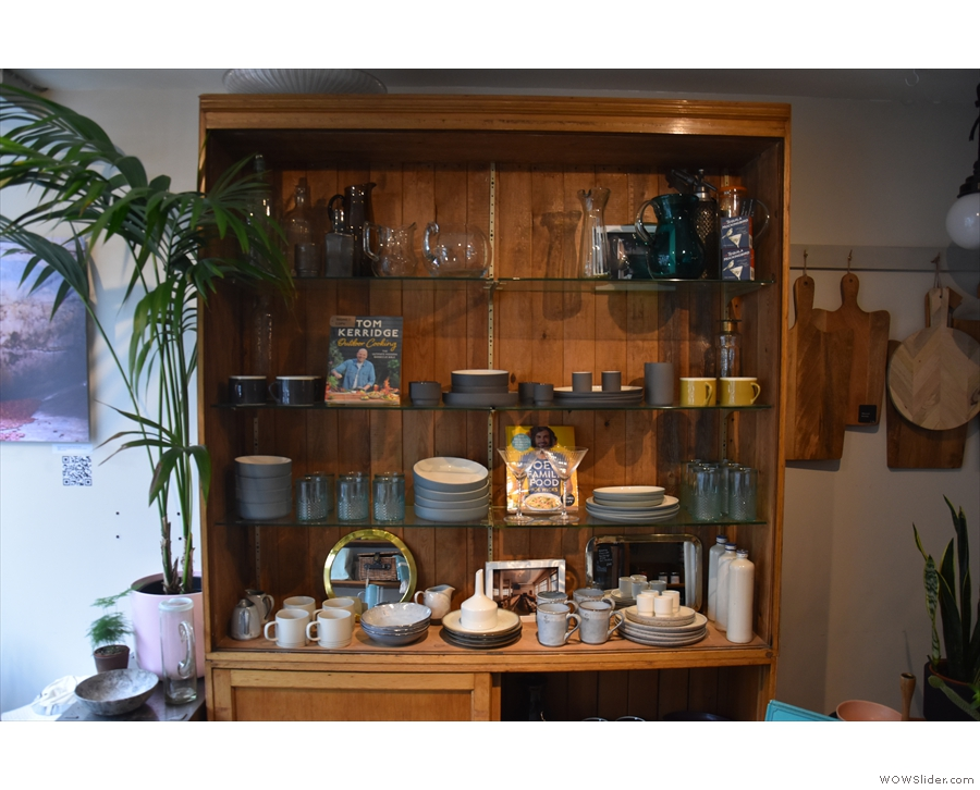 There's more on the left, where you'll find this dresser and its wonderful crockery.