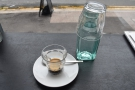 Sadly I was only there for a quick espresso, which came with a bottle of water.