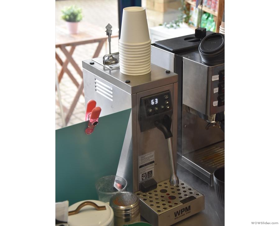 ... which heats the milk to a precise, preset temperature.