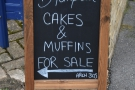 What's that A-board by the gate? Cakes, you say? And muffins? Quick! Where's Arch 305?