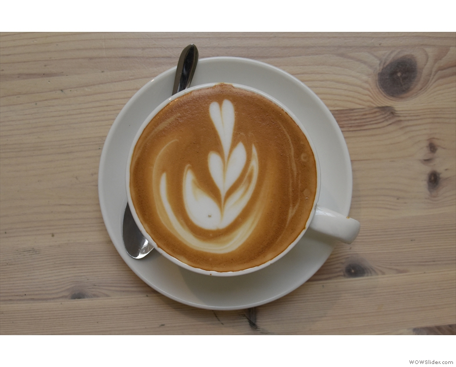 ... excellent latte art...