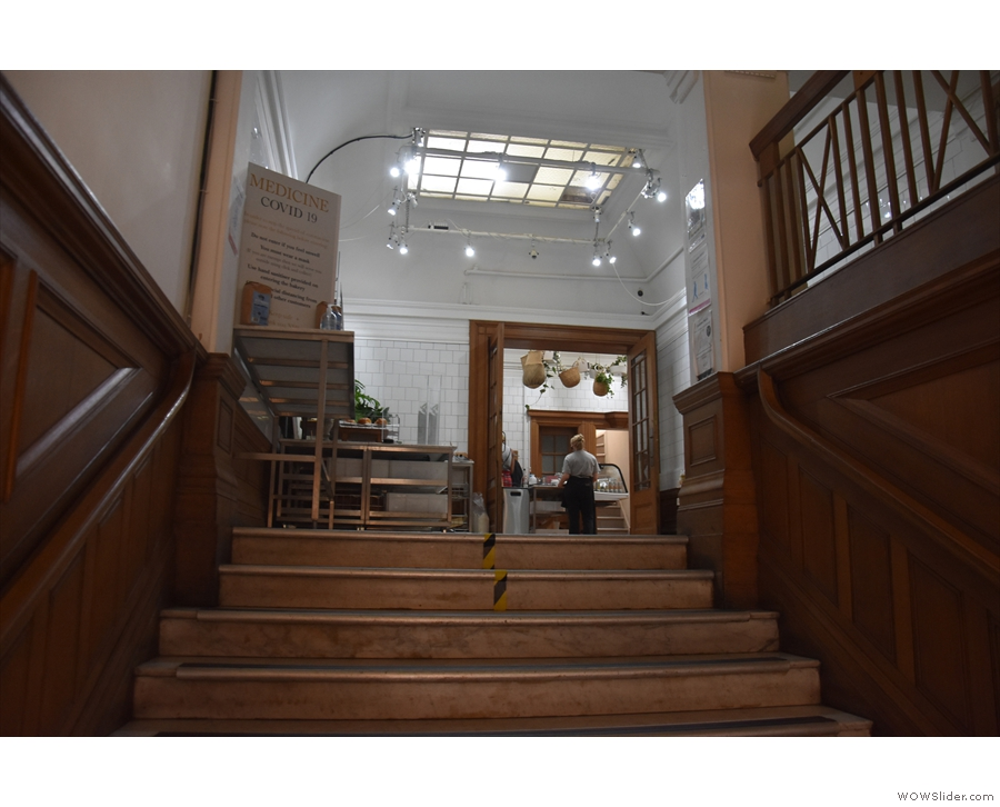 At the top of the steps is a small room. At first I thought that this was all there was...