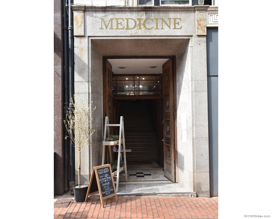 The unassuming entrance to Medicine on the northern side of Birmingham's New Street.