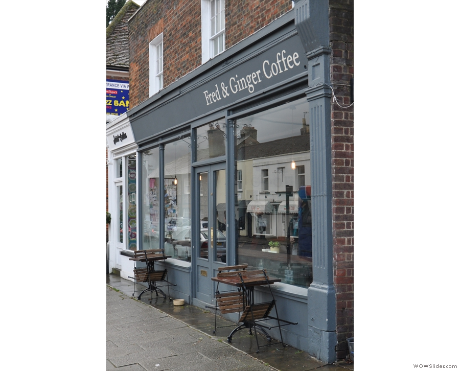 Fred & Ginger Coffee on Kings Langley High Street...