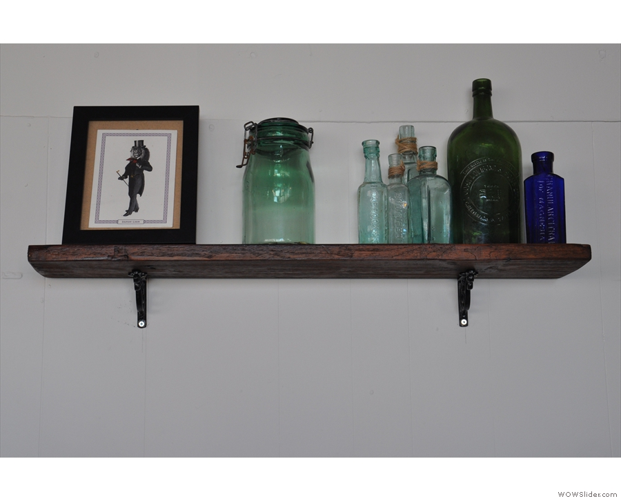 ... such as this shelf above the espresso machine...