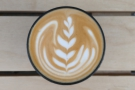 Bianca, my barista, did some lovely latte art...