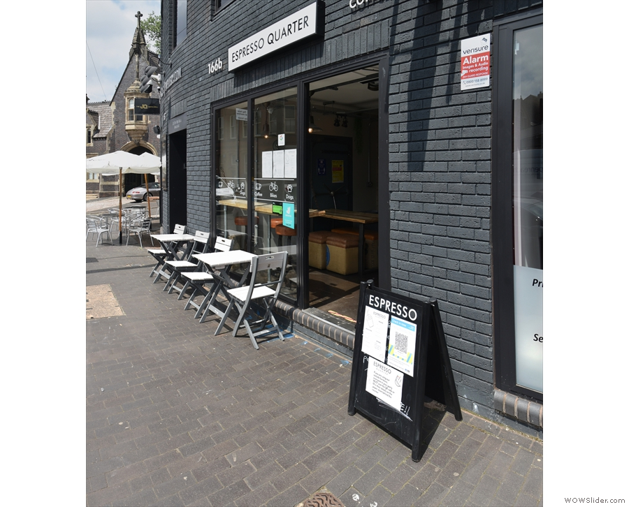 Espresso Quarter, on the northern side of Warstone Lane, approaching from the clock...