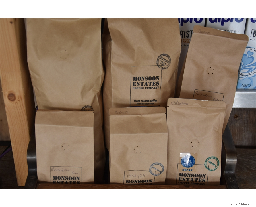 ... of the counter, while doubling up as a display stand for the retail bags of coffee.