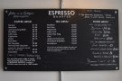 ... while to the right of that, up on the wall, is the simple menu. Everything is prepared...