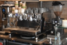 ... in the space behind the counter, which includes the White Eagle espresso machine.