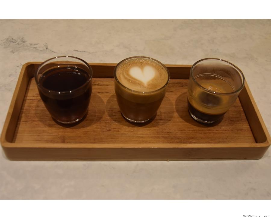 This is the guest espresso as batch brew filter, macchiato and espresso.