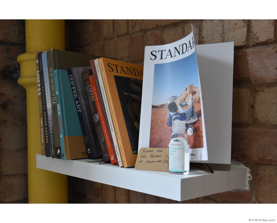 Neat bookshelf. Check it out the next time you visit. It might have a new addition.