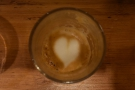 My macchiato had staying power, keeping the latte art to the bottom of the glass.