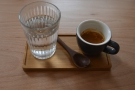 Before I left, the staff wanted me to try the Blossom espresso, so they made me a shot.