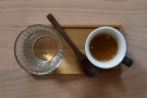 I'll leave you with my bonus coffee, beautifully presented on a tray like my coffee flight.
