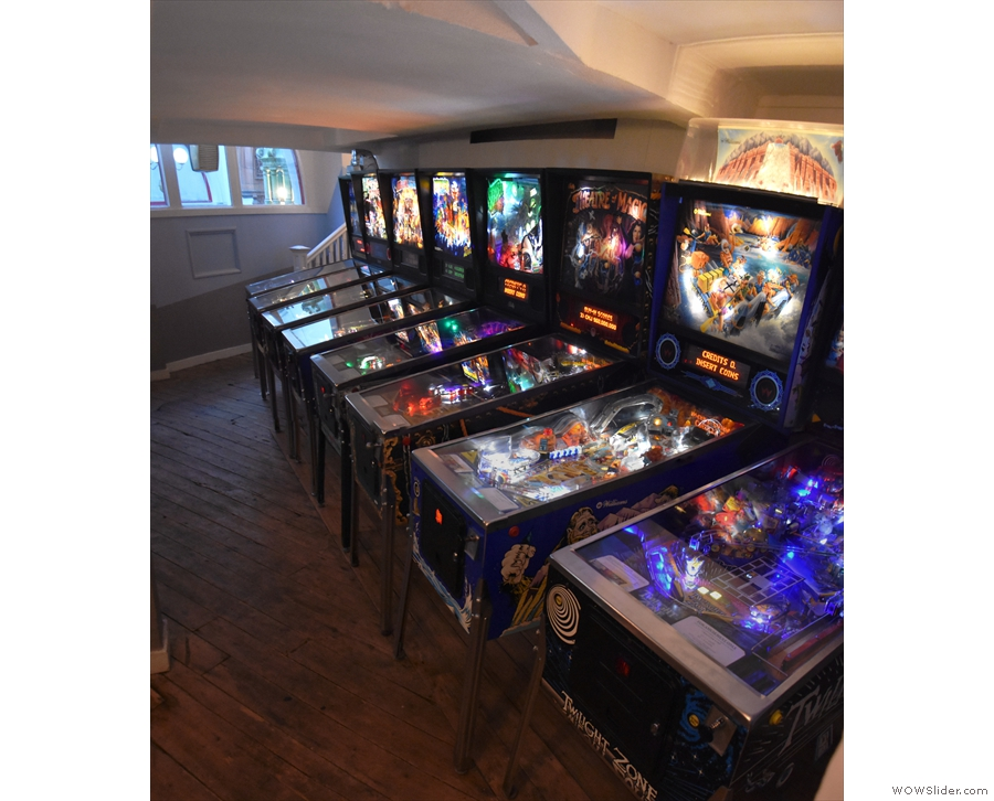 And what do we have hear? More pinball machines!