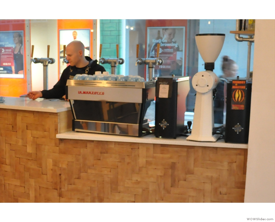 There was also the espresso end of the counter, with an EK43 grinder for filter...