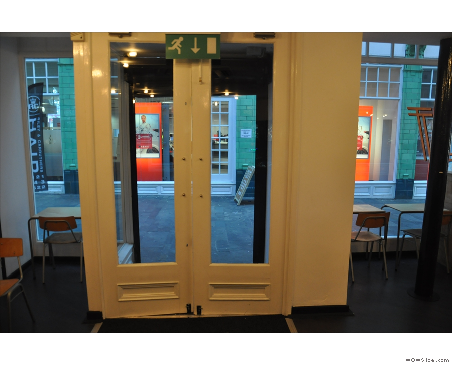 Back upstairs, here's the door in from the City Arcade. This was taken in 2016 and...