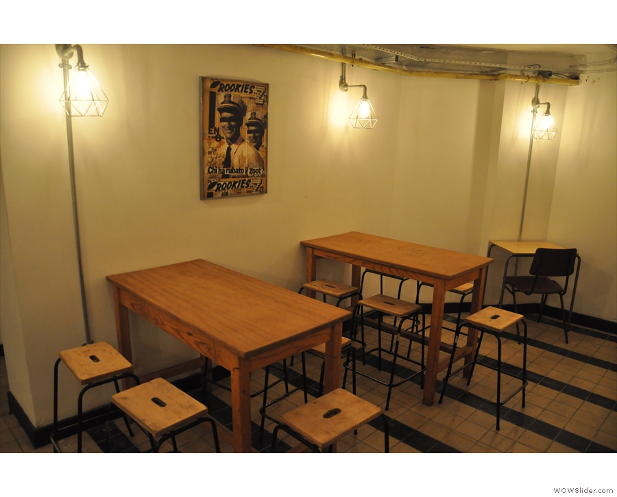 When I first came down to the basement in 2016, there were tables opposite...