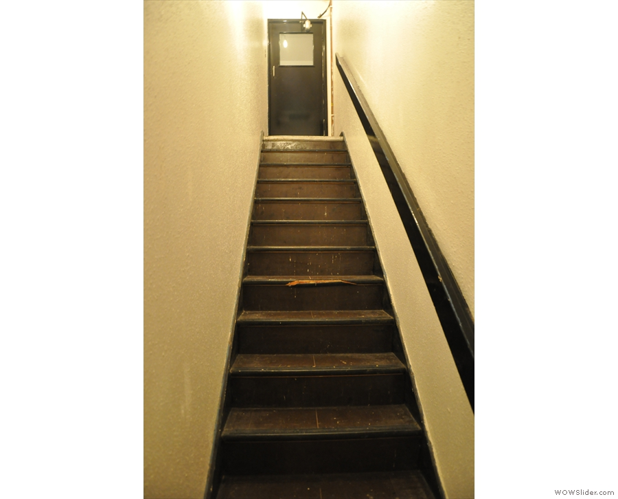 Time to go back upstairs. This is the view from 2016, with the door at the top...