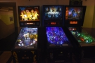 ... while three pinball machines take pride of place where the tables used to be...