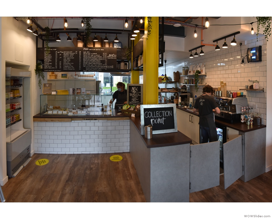 ... the counter, which is an interesting, L-shaped affair at the back of Gloria & Lil's.