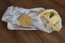 I had a halloumi, avocado and tomato flatbread wrap which was delicious, although not...