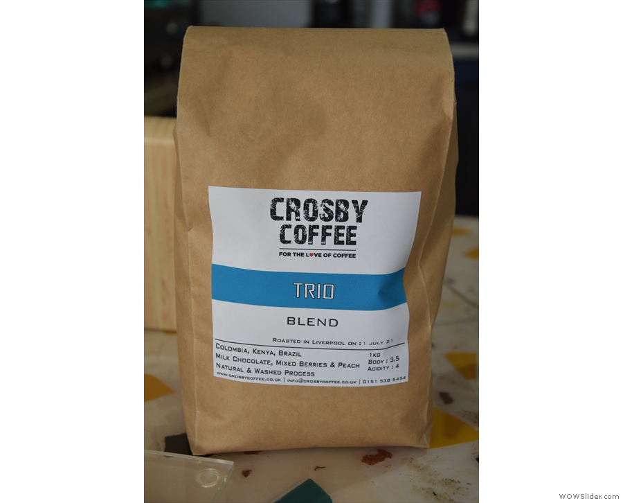The espresso is the Trio blend from Crosby Coffee...