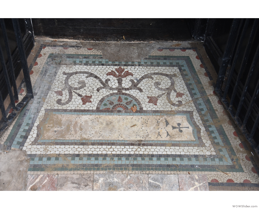 (Although not without pausing to admire the old tiling on the threshold.)