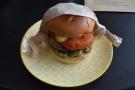 My toasted brioche bun with avocado, mushroom, tomato and hash brown!